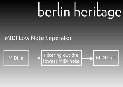 MIDI Low Note Seperator